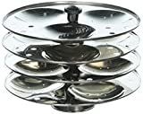 Tabakh 4-Rack Stainless Steel Hawkins Type Idli Stand, Makes 12 Idlys