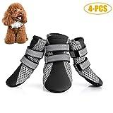Legendog Zapatos De Perro, 4PCS Bota De Perro Respirable Antideslizante para Mascotas Zapatos De Verano para Perro con Reflectante M