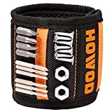 HOWOD Magnetic Wristband, Small Tool Gifts for Men, Magnetic Wrist Band Tool Holder with 20 Super Strong Magnets for Holding Screws, Nails. Cool Christmas Tool Belt for Handyman, Women, Dad, Father.