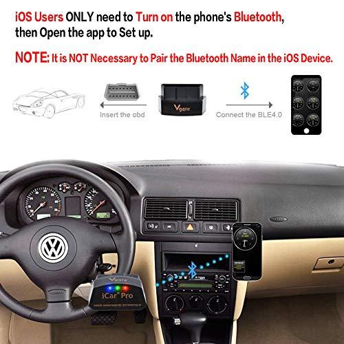 Vgate iCar Pro Bluetooth 4.0 (BLE) OBD2 Fault Code Reader OBDII Code Scanner Car Check Engine Light...
