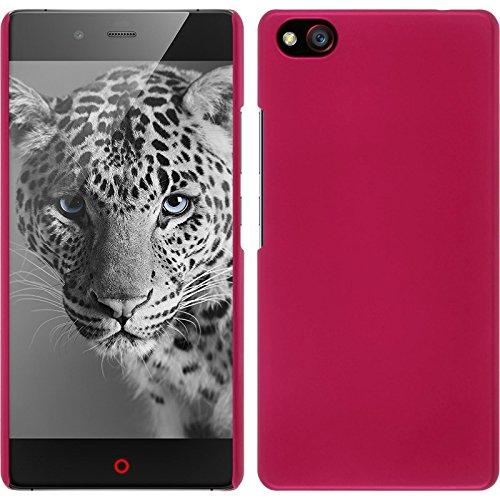 PhoneNatic Case kompatibel mit ZTE Nubia Z9 Max - Hülle pink gummiert Hard-case + 2 Schutzfolien