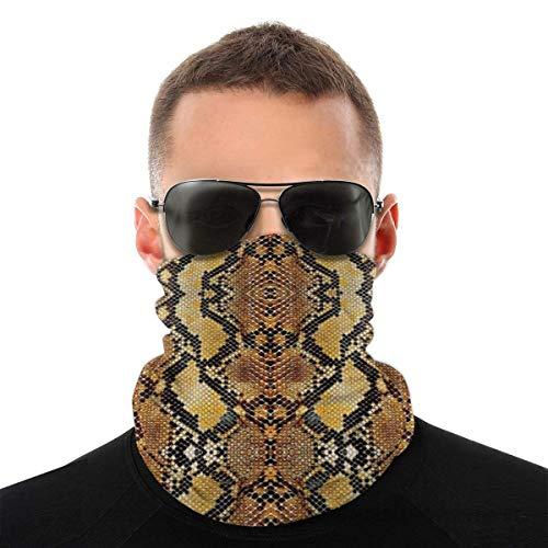 Nother Summer Snakes Bandana Gesichtsmaske – Staub Sonne UV-Schutz Halstuch – für Laufen Wandern & Motorrad & Radfahren & Weiß Schal