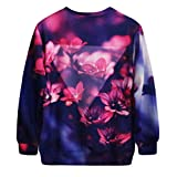 Ninimour Fashion Damen Digital Eindruck Sweatshirt Pullover Frühling Herbst Streetwear (one size,...