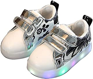 Super color Boys Girls Baby Sequins LED Luminous Sneakers Child Casual Colorful Light Up Shoes