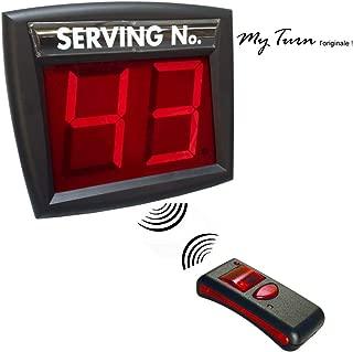 Sistema gestión de colas Kit completo Pantalla dos dígitos y Radiocomando