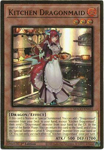 Kitchen Dragonmaid - MAGO-EN022 - Premium Gold Rare - 1st Edition