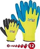 Kinder Arbeitshandschuhe Latex Schutzhandschuhe Gartenhandschuhe Handschuhe Kinderhandschuhe orange Gr. 2-6 6 (6, 7)