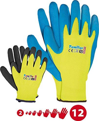 Kinder Arbeitshandschuhe Latex Schutzhandschuhe Gartenhandschuhe 2-3 J.A. und FUZZIO