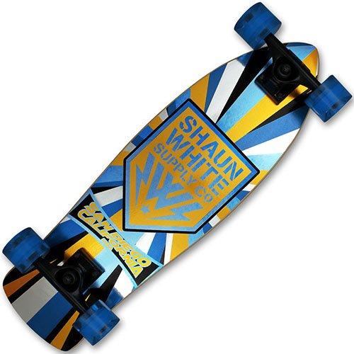 XQmax Skateboard Shaun White Airwalk Cruiser, blue/Gold