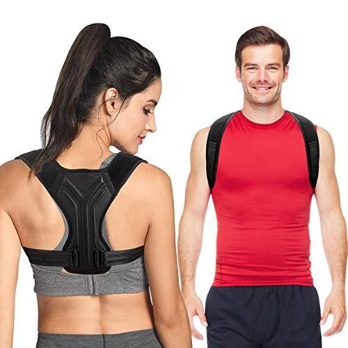 Posture Corrector for Women Men, Upper Back Posture Straightener Brace - Adjustable Posture Trainer for Neck, Back, Shoulder Support & Help to Improve Posture - M Size