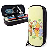 YOLOP Pencil Case Winnie The Pooh Big Capacity Pencil Bag Makeup Pen Pouch Stationery with Double Zipper Pen Holder for School/Office