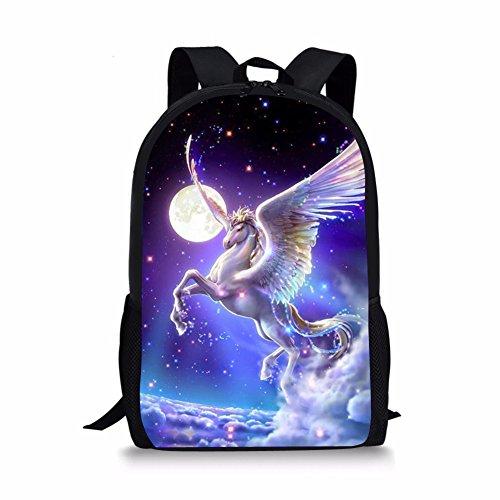 Middle School Student Backpack For Girls Fashion School Bag Bookbag Unicorn Galaxy