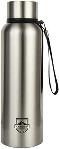 WaWeiY Bouteilles d'eau Fiole à Vide en Acier Inoxydable 304 Sling Sport Bouteille d'eau étudiants Et étudiantes Fiole à Vide Gourdes (Couleur   3, Taille   22.2cm)