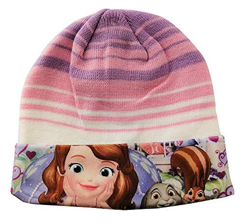 Disney Gorro de invierno Junior Sofía para niños, niñas de diferentes tamaños (Púrpura-rosa, 54)
