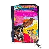 Grand Phone Cases Cuero Original Sujetadora Tarjeta Crédito Identificación Dinero // Q05600641 Chihuahua Perro Obra de Arte // Purse Wallet