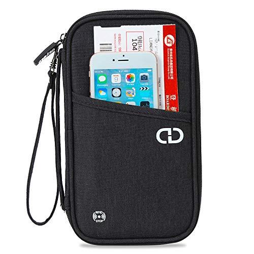 dayday® Reise Brieftasche Organisator mit RFID-Blocking Unisex Reisepasshalter