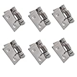 RZDEAL 10pcs Small Spring Iron Hinges Push and Pull Two-Way Hardwares for Furniture Case B...