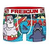 FREEGUN Christmas Boxer CHRISTMAS-microfibra-92% poliéster, 8% Elastano, Unitario Hombre T661-1, XL