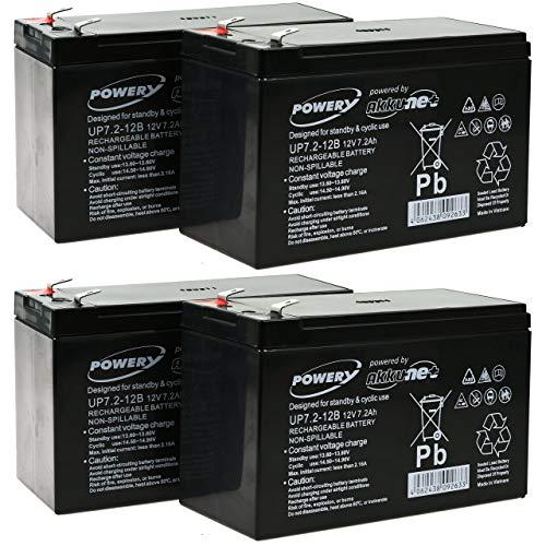 akku-net Blei-Gel Akku ersetzt Panasonic LC-R127R2PG, 12V, Lead-Acid