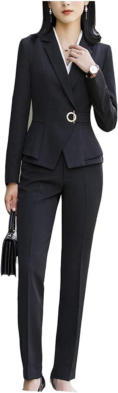 SevemD 2019 Wine Uniform Pantsuits with Tops Pants Sets for Women Business Suits Office