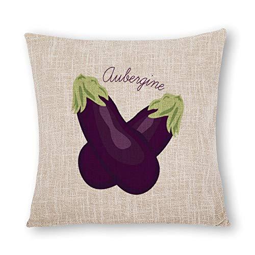 perfecone Home Improvement - Funda de almohada de algodón para sofá y coche (55 x 55 cm)