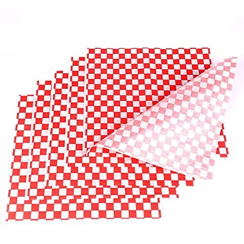 SAVITA 100 Hojas 28 x 26 cm Papel para Envolver Alimentos Hamburguesas...