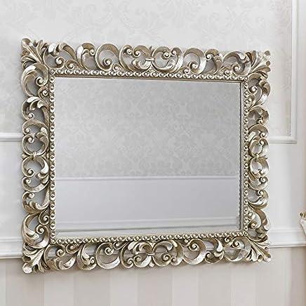 Specchio Bagno Con Cornice Argento.Amazon It Cornici Argento Specchi Da Parete Specchi Casa E Cucina
