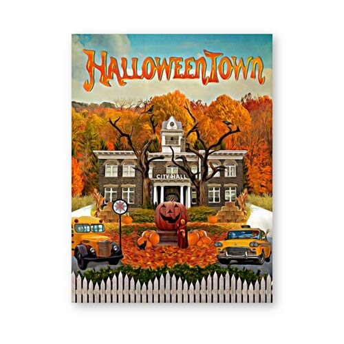 N / A Halloween poster and print classic fantasy family comedy movie canvas painting mural painting living room home frameless decoration canvas painting A33 60x80cm