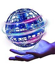 Gimamaフライングボール ジャイロ 飛行ボールトイ UFOおもちゃ ブーメランスピナー ドローンおもちゃ LEDライト付き 人気を集めているプレゼント (ブルー)