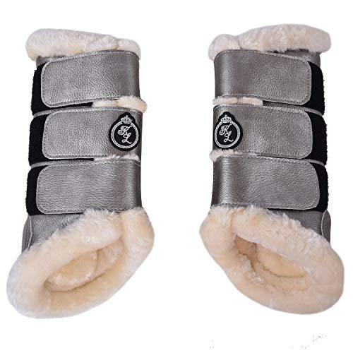 Kingsland Kunstleder - Gamaschen KL_BEVIL Hinterbeine, 2er-Pack Boots Größe Vollblut, Farbe Silber