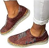 EGSDMNVSQ Sneakers Damen Lässige Flache Einzelschuhe Low Mesh Sneaker Atmungsaktiv Turnschuhe...