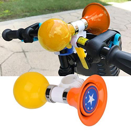 Kinder Fahrradhorn Metall Gummi Fahrradhorn Warnung Glocke Fahrrad Lenker Ring Glocke für Kinder Fahrrad(ORANGE)