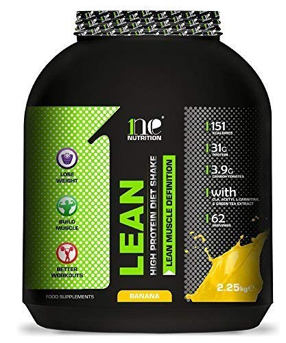 1ne Nutrition Lean Diet Fuel 2.25kg Ultralean Weight Control Meal Replacement Shake Protein Powder (2.25kg, Banana)