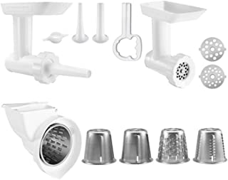 KitchenAid 80127 KGSSA Stand Mixer Attachment with Food Grinder, Rotor Slicer, Shredder and Sausage Stuffer, White