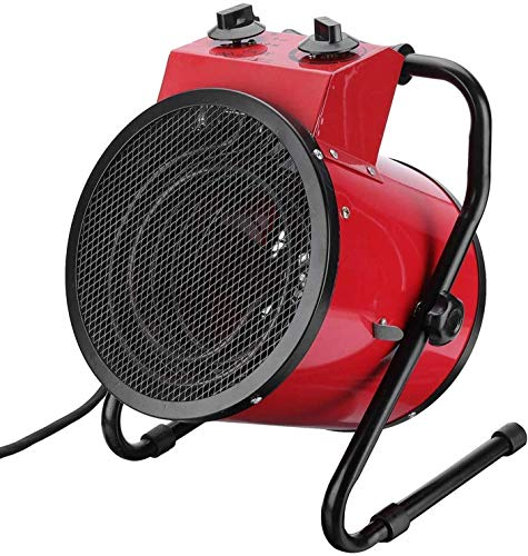 Calentador Eléctrico De Aire Forzado, Aparatos De Calefacción Para Talleres Industriales De 3000 W, Calentador Comercial Portátil, Salida De Aire Ajustable, Protección Contra Sobrecalentamient