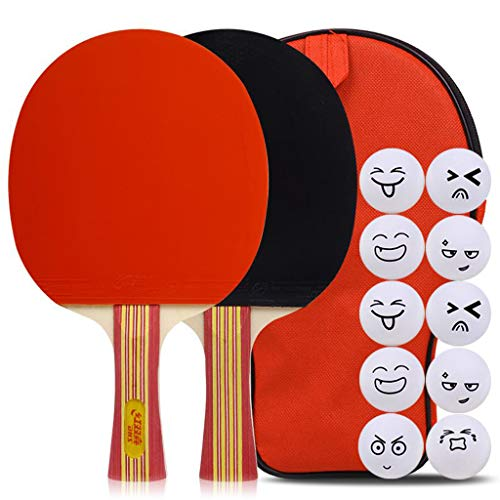 Find Bargain JD Home 5 Star Ping Pong Paddle Set of 2 Table Tennis Rackets,Suitable for Intermedia...