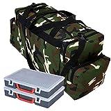 Ferocity Specialist Angeltasche für Zubehör mit inkl. 2 Kunststoff-Boxen Angelboxen Gerätetasche...