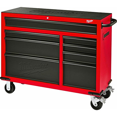 Milwaukee Heavy Duty Red & Black 46 in. 8-Drawer Rolling Steel Storage Cabinet | Contemporary...