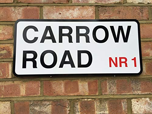 EpochSign NORWICH CITY CARROW ROAD STREET SIGN FOR ANY CANARIES FAN NCFC METAL STREET SIGN 8X12 INCHES
