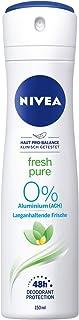 NIVEA Fresh Pure dezodorant w sprayu (150 ml), orzeźwiający dezodorant bez aluminium (ACH), pielęgnujący 48h dezodorant z ...