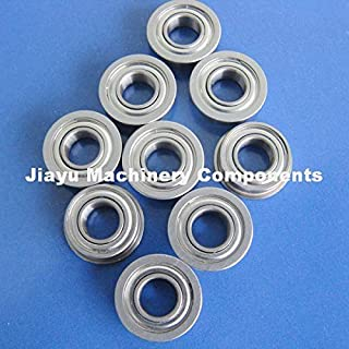 Fevas 50 PCS FR156ZZ Flanged Bearings 3/16 x 5/16 x 1/8 inch Flange Ball Bearings RIF-5632ZZ