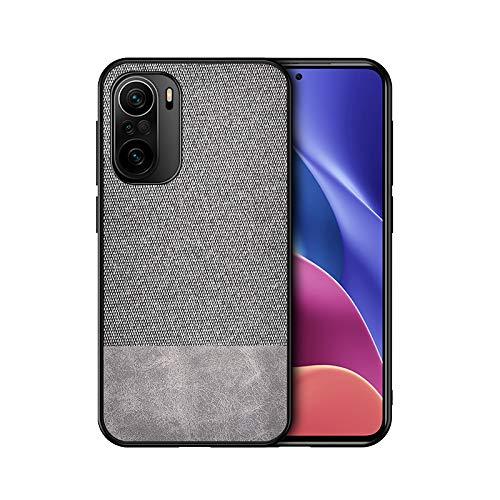 GOGME Funda para Xiaomi Redmi Note 10 4G Funda, [Estilismo de Tela de Lona Tejida] Carcasa con Marco de Silicona Suave TPU + PC Back Protección contra Caídas Case Cover. Gris