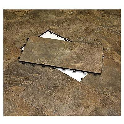 "Vinyl Top Multi-Purpose Basement Flooring Tiles 12"" x 24"" - Covers 2 SQ FT per Tile"