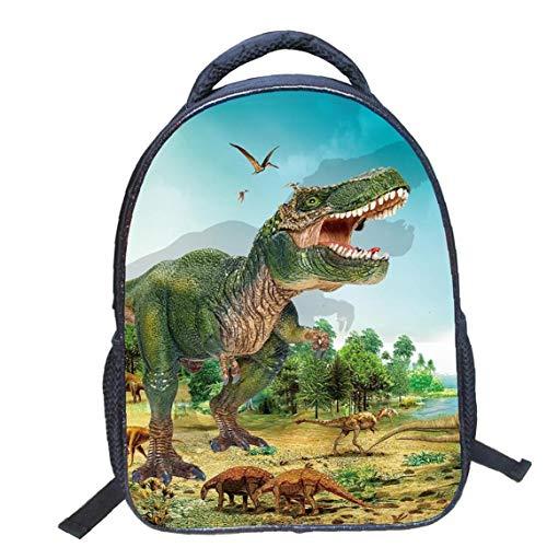Bolsas Dinosaurio 3D Print Mochila De Lona Animales Bolsas De Escolar del Viaje para Niño Y Niñas