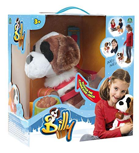 BIlly, Mon Chien BIlly, Peluche interactive à promener, Il marche, s'assoie, aboie, Jouet pour Enfants dès 3 Ans, AMB00