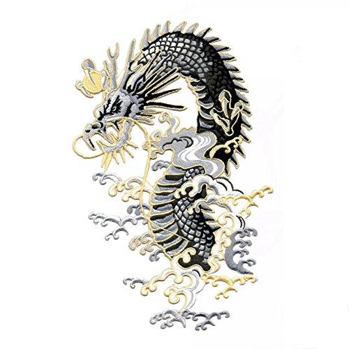 Lumanuby 1x majestä mesa Dragón embroi Embroidery