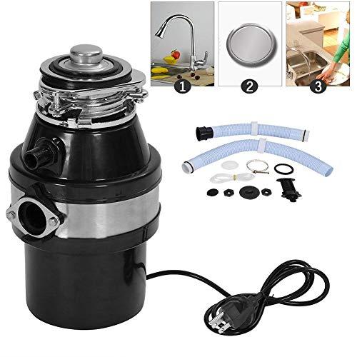 Dispositivo di smaltimento dei rifiuti da cucina,Tritarifiuti Waste Disposal unit with Air Switch, Tritarifiuti alimentari da cucina, in acciaio, capacità 1 litro