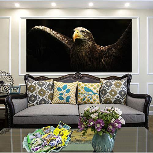 KWzEQ Golden Eagle Canvas Art Animal Mural Poster Poster Picture Decoración del hogar Pintura de la Lona,Pintura sin Marco,45x90cm
