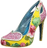 Poetic Licence by Irregular Choice Loren Love Zapatos de tacón con punta cerrada mujer, Rosa (Pink/Yellow), 42 (8 UK)