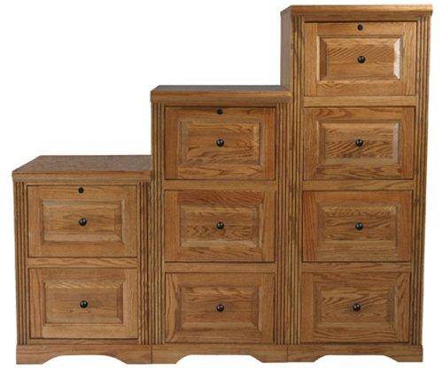 Eagle Oak Ridge 4 Drawer File Cabinet, Medium Oak Finish